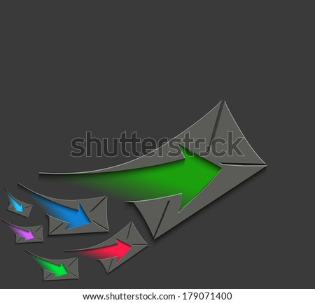 Email Icons graphics for web icon collections - stock vector