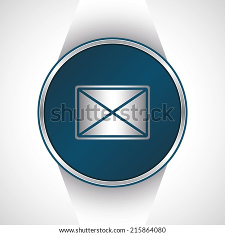 Email internet icon. Vector button