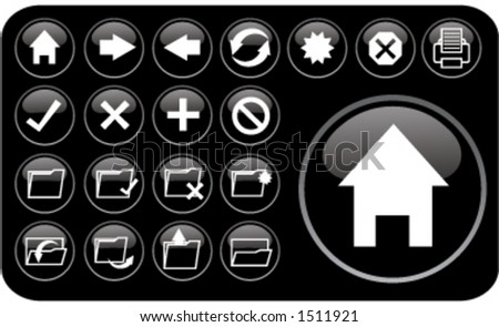 Email/Internet icons (part 2) - stock vector
