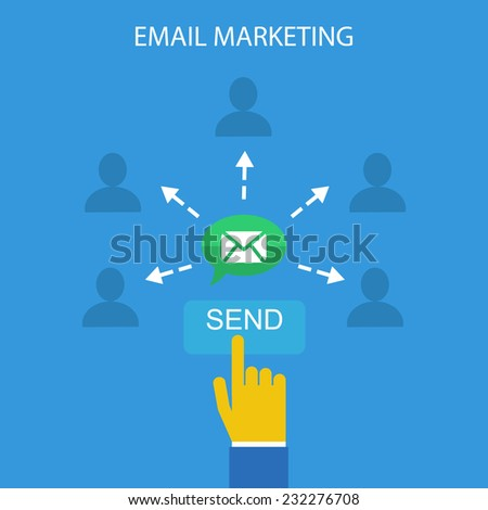 email marketing vector illustration - stock vector