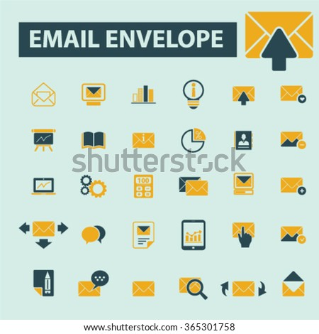email, message, mail  icons, signs vector concept