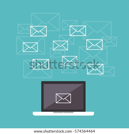 Email. Messages. Communication concept.