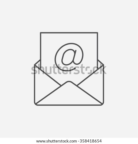 Email Newsletter Postal Document Correspondence Message Communication Information Contact Vector Icon - stock vector