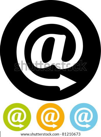 Email sign icon (Vector) - stock vector