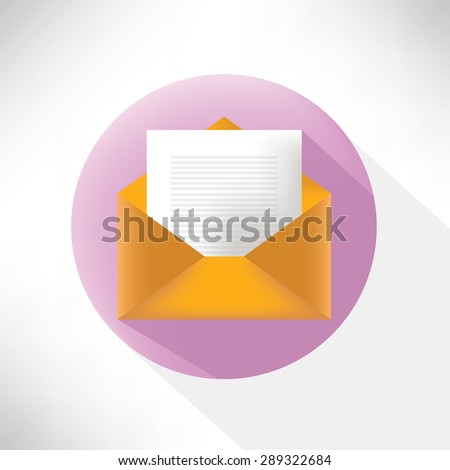 Email symbol,flat icon,clean vector - stock vector