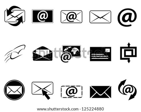 email symbol icons set - stock vector