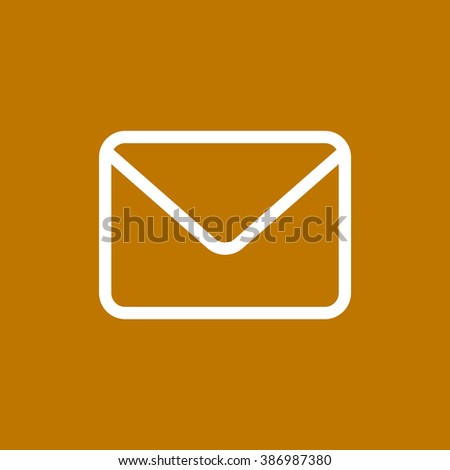 email web icon. vector design - stock vector