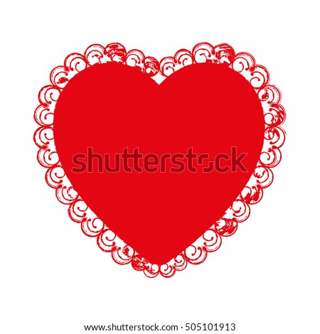 Perfekt Embellished Heart Cartoon Icon Image