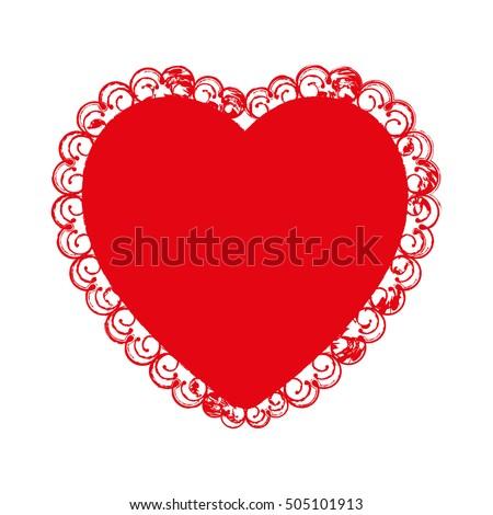 Perfekt Embellished Heart Cartoon Icon Image