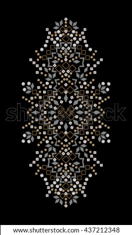 Embellishment for Fashion    Hand made   T-shirt Printing    - stock vector