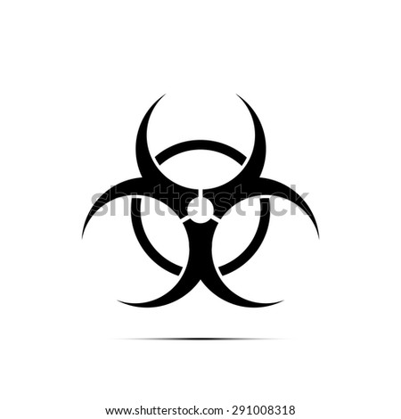 Emblem - Bio-hazard. Symmetric on a white background - stock vector