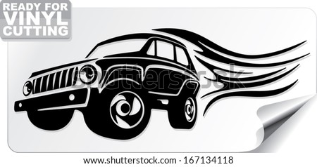 emblem for off road enthusiasts - stock vector