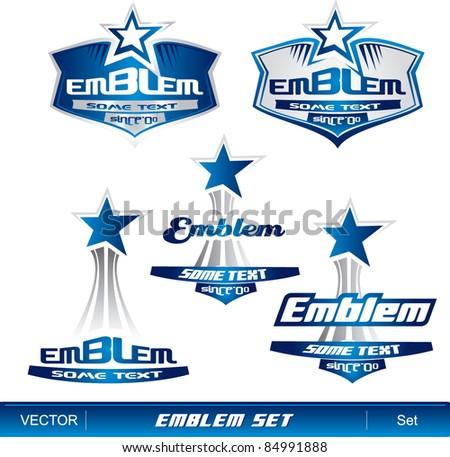 Emblem set - stock vector