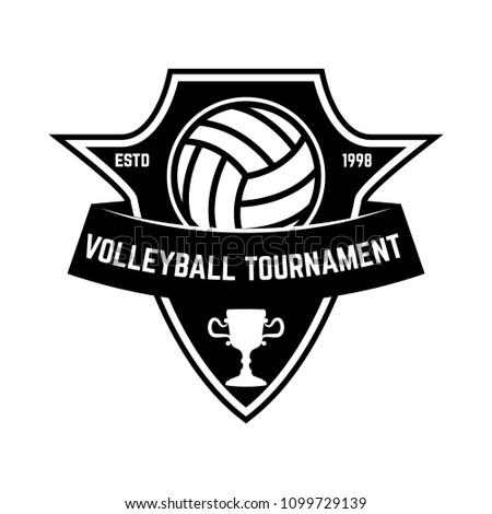 Emblem Template Volleyball Ball Design Element Stock Vector (2018 ...