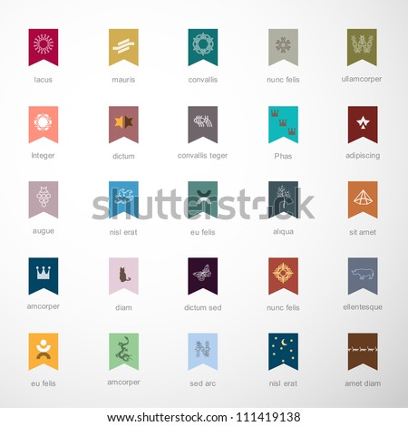 Emblems and elements for design. Vector set 2 of 3 - stock vector