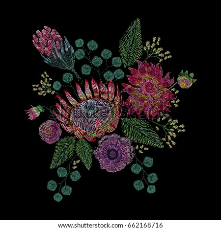 Embroidered Composition Wild Garden Flowers Buds Stock Vector ... on garden dress forms, country garden designs, garden edging designs, garden home designs, garden wedding designs, garden fabric, garden box designs, garden art designs, garden cake designs, garden motif design, garden surface pattern designs, garden window designs, garden flowers designs, garden needlepoint designs,