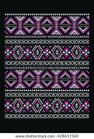Embroidery for Fashion - stock vector