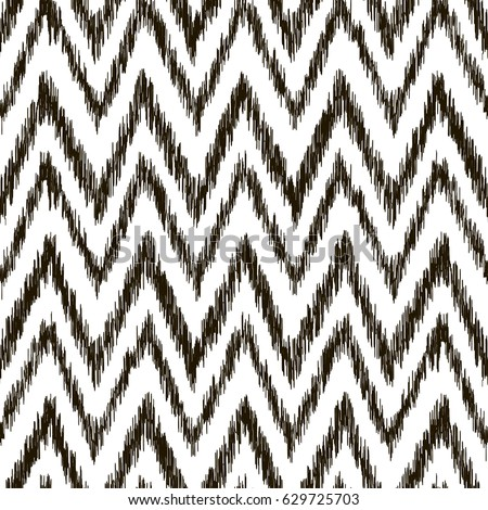Embroidery vector design seamless black and white pattern in tribal style traditional ethnic folk