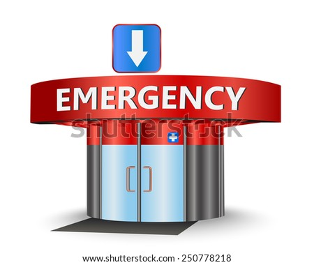 Emergency building as a concept symbol - stock vector