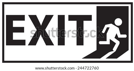 Emergency Exit Sign Vector - stock vector