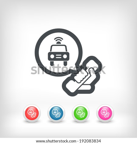 Emergency phone call - stock vector