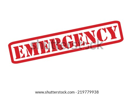 EMERGENCY Rubber Stamp vector over a white background. - stock vector