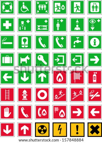 Emergency Signs - stock vector