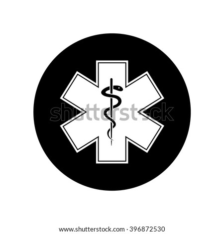 Emergency Star Medical Symbol Caduceus Snake Stock Vector 396872530
