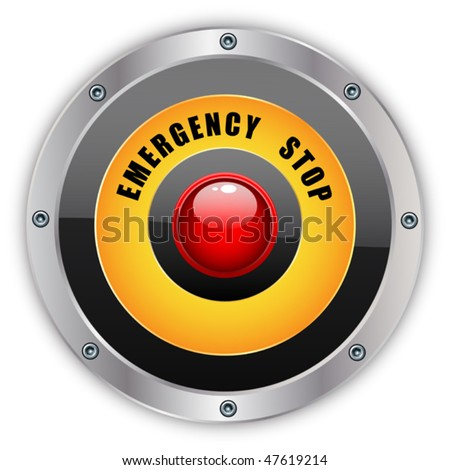 Emergency stop button - eps 10 - stock vector