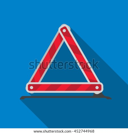 Emergency stop sign flat icon illustration isolated vector sign symbol