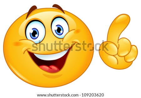 Emoticon making a point - stock vector