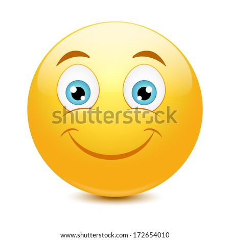 Emoticon with big toothy smile - stock vector