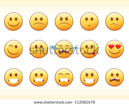 Emoticons - stock vector