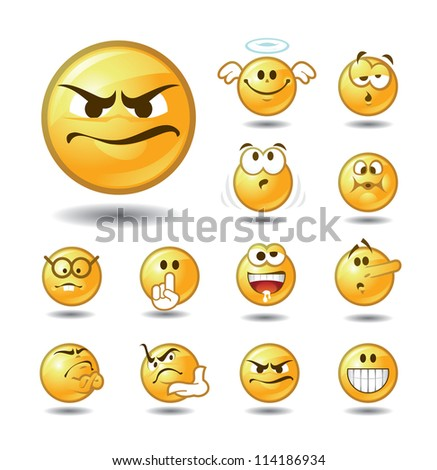 EmotIcons Set 3 of 5 - stock vector