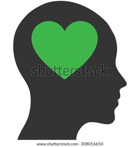 emotion brain icon - stock vector
