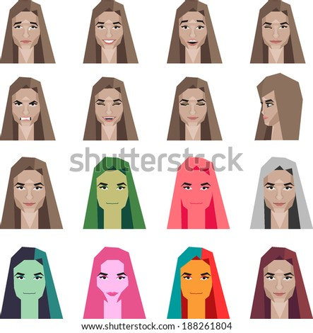 emotion icons - stock vector