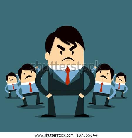 Employee and Boss - stock vector
