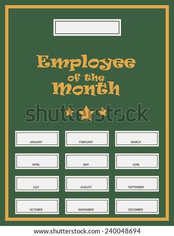 Employee Of The Month Award Kit. Vector illustration. - stock vector