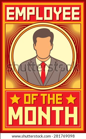 employee of the month design - stock vector