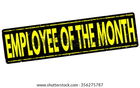 Employee of the month grunge rubber stamp on white, vector illustration