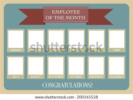 Employee of the Month Photo Calendar.Vector eps10.  - stock vector