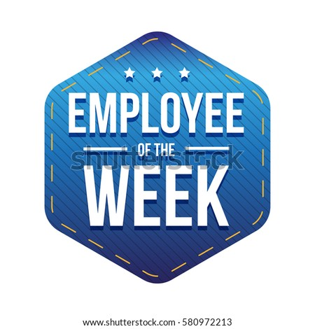 Employee of the Week vector badge