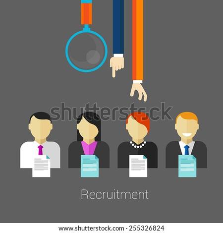 employee recruitment - stock vector