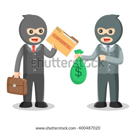Corruption Giving Money Under Table Stock Vector 246674896