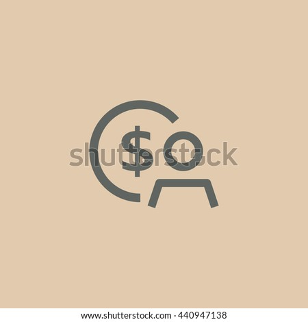 Employee wages icon. Employee wages icon Vector. Employee wages icon Art. Employee wages icon eps. Employee wages icon Image. Employee wages icon logo. Employee wages icon Sign - stock vector