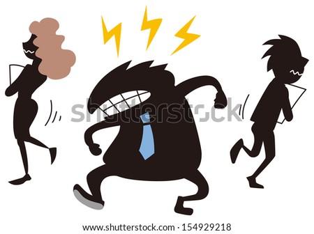Man Running Away Stock Photos, Illustrations, and Vector Art