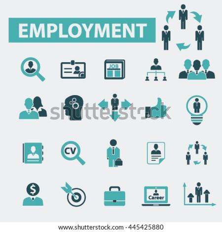 employment icons - stock vector