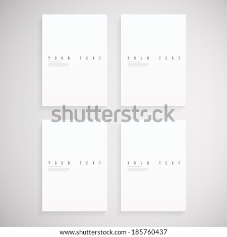 Empty A4 / A3 format paper set  Eps 10 stock vector illustration