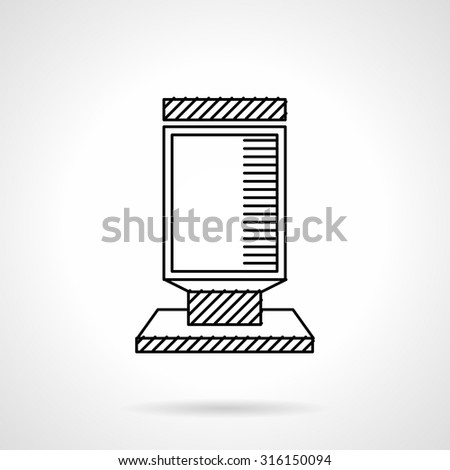Empty advertising lightbox. Flat line vector icon. Sample of outdoors advertisement. Design symbols for website and business. - stock vector