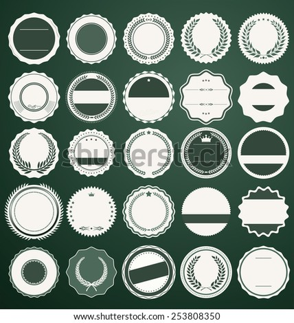 Empty badge collection - stock vector